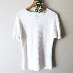 Frame Denim Tops - FRAME Le Crochet Lace Up Knitted Modal Cotton Top